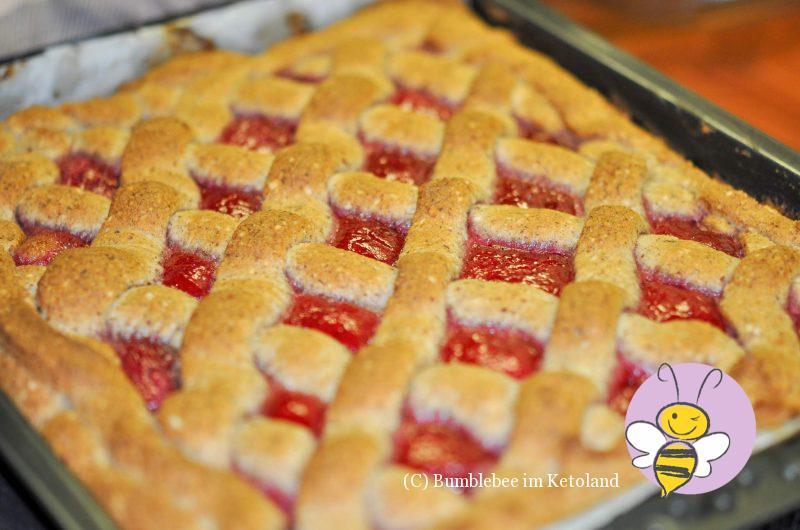 Ketogene Linzer Torte - Grüße aus dem Kuchenparadies