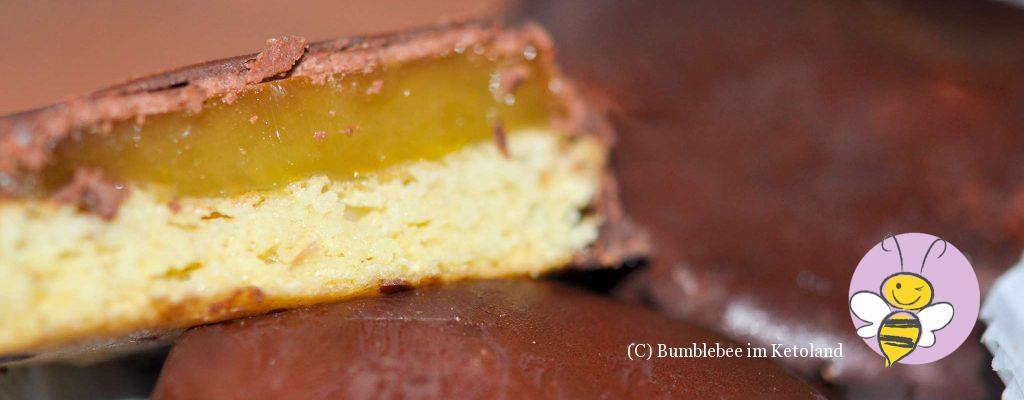 Ketogene Jaffa Cakes mehlfrei und zuckerfrei
