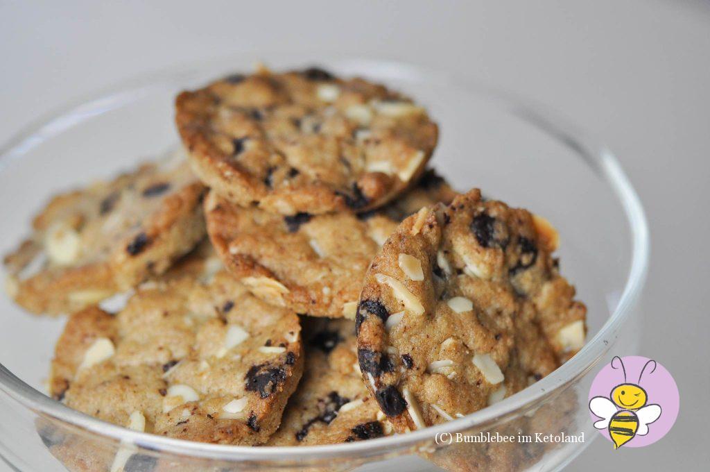Mandelcookies ketogen ohne Mehl und zuckerfrei