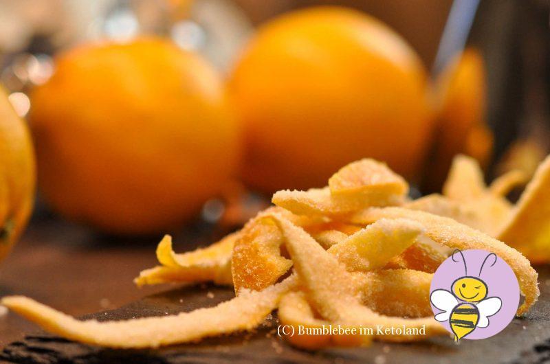 Orangeat (oder Zitronat) zuckerfrei